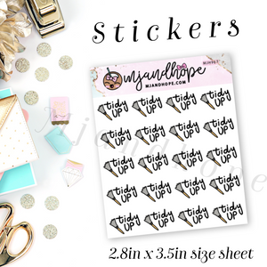 Tidy Up Stickers | MJH 967 - MJ and Hope