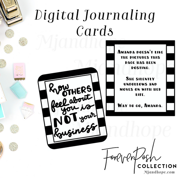 Forever Post Journaling Cards - Digital Diecut/Journaling Cards - MJ and Hope