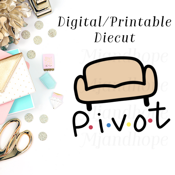 Pivot! Friends TV Show - Digital Diecut - MJ and Hope