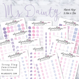 Ms Dainty | Teeny Tiny Functional Stickers - MJ and Hope