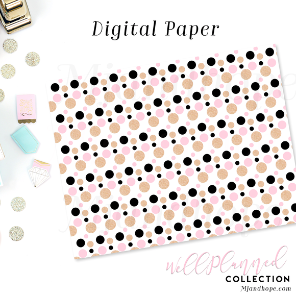 Polka Dots - Digital Paper - MJ and Hope