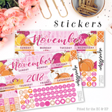 November 2018 Monthly Stickers - Erin Condren - MJ and Hope