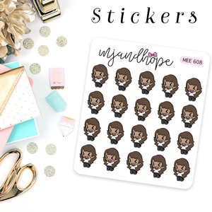 """Meeya Feels Excited"" Stickers 