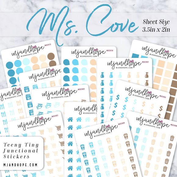 Ms. Cove | Teeny Tiny Functional Stickers - MJ and Hope