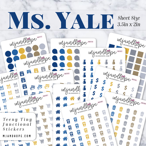 Ms. Yale | Teeny Tiny Functional Stickers - MJ and Hope
