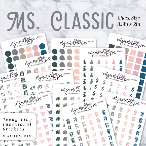 Ms. Classic | Teeny Tiny Functional Stickers - MJ and Hope