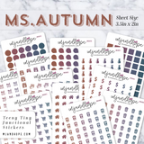 Ms. Autumn | Teeny Tiny Functional Stickers - MJ and Hope