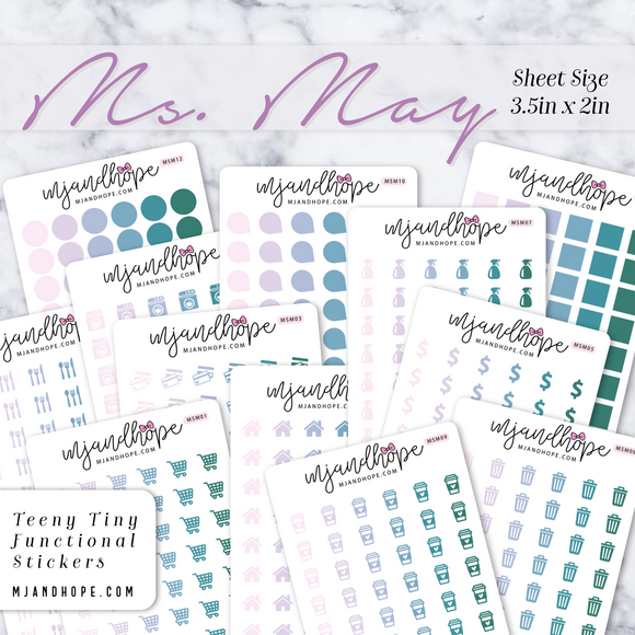 Ms. May | Teeny Tiny Functional Stickers - MJ and Hope