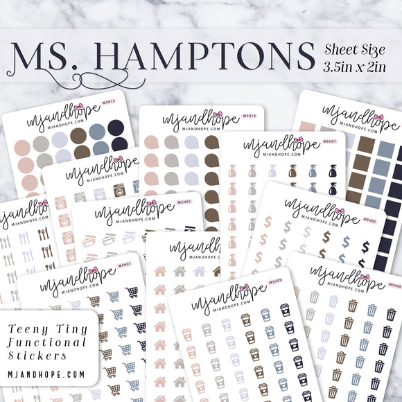Ms. Hamptons | Teeny Tiny Functional Stickers - MJ and Hope