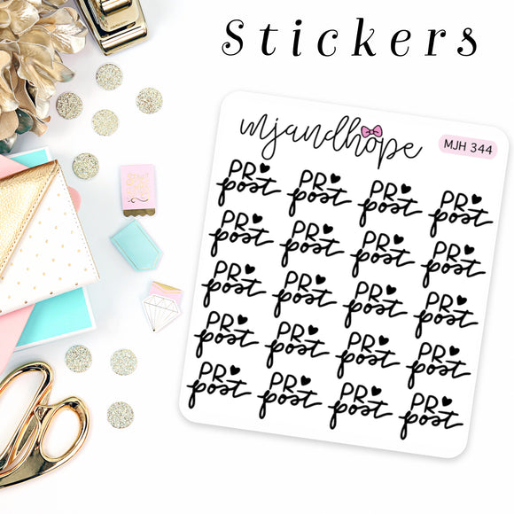 PR Post Stickers | MJH 344 - MJ and Hope