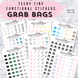 Grab Bags (10 Sheets) - Teeny Tiny Functional Stickers - MJ and Hope
