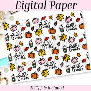 Fall Vibes - DIGITAL PAPER - MJ and Hope