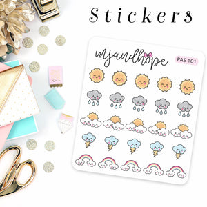 Weather Stickers - MJ and Hope