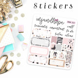 Sophisticated Mini Kit Stickers | MNK 501 - MJ and Hope