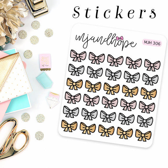 Little Shimmer Bow Stickers | MJH 306 - MJ and Hope