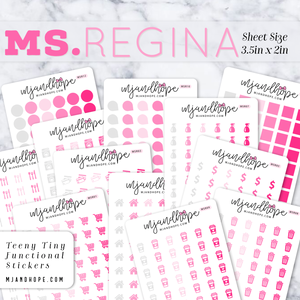 Ms. Regina | Teeny Tiny Functional Stickers - MJ and Hope