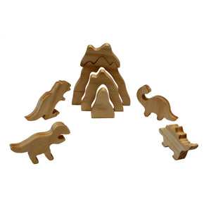 Wooden Volcano Stacking Puzzle