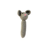Mouse Baby Rattle - Hand Crocheted