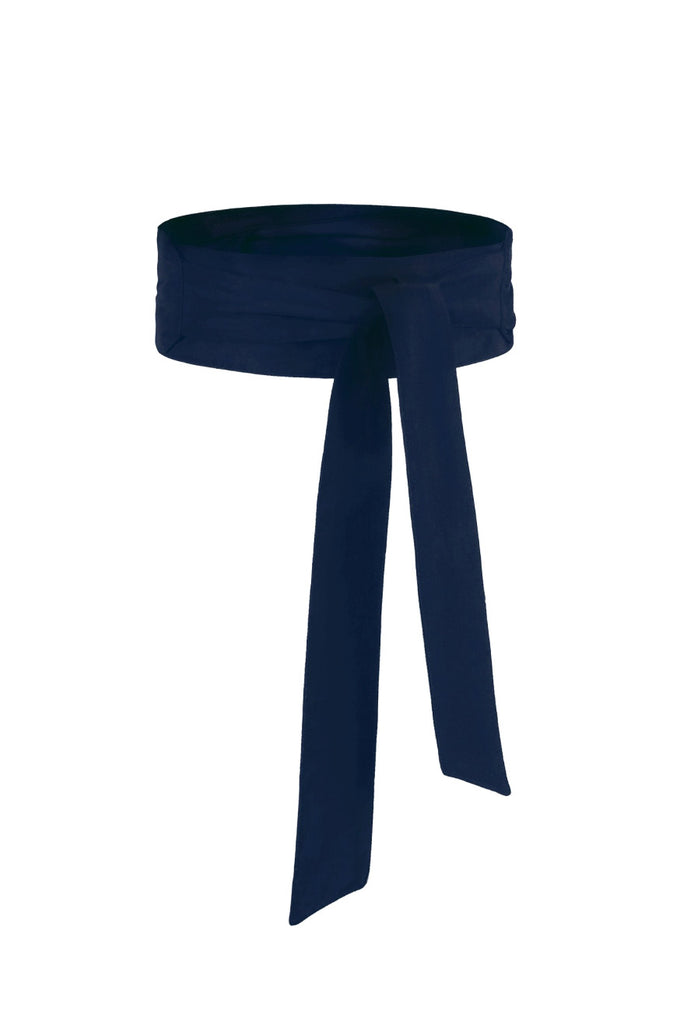Blue Pure Silk Sash