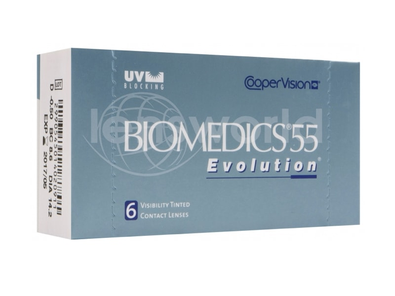 Biomedics 55 Evolution - 6 Pack — LensDirect.com.sg 35c7dc4e749a