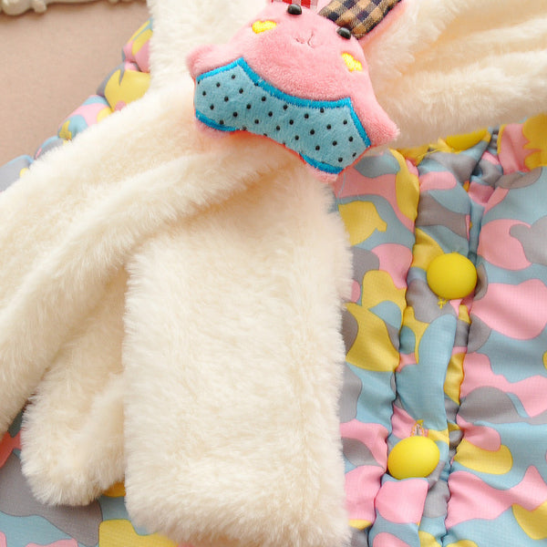 Cute Rabbit Baby Winter Jacket Thick Cotton-Padded