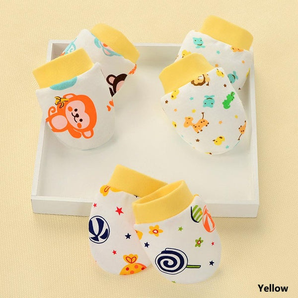Cartoon Face Anti Grasping Breathable And Warm Infant Gloves