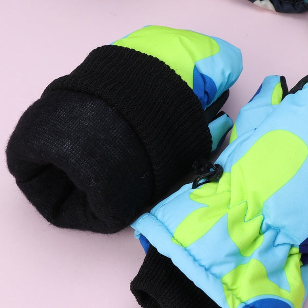 Winter Waterproof Warm Mittens Boy Girl Kids