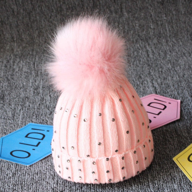 Newborn Baby Boy Girls lovely kintted Pompon Beanies