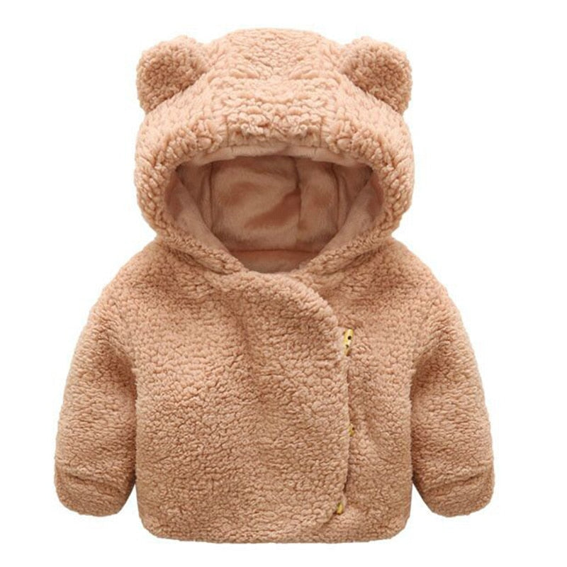 baby cotton coat Cute bear ears