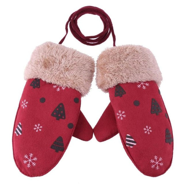 Baby Winter Boys Girls Knitted Warm Gloves