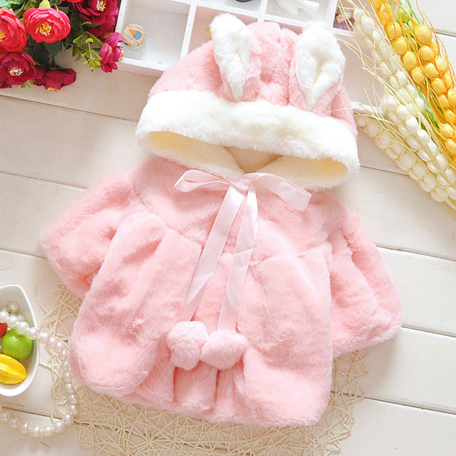 baby cotton coat Cute rabbit ears