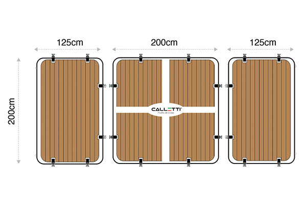 CALLETTI™ YACHTLINE  Platform_section 2m(L)x4.5m(W)