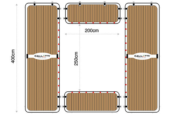 CALLETTI™ YACHTLINE  Pool_section 4m(L)x4.5m(W)