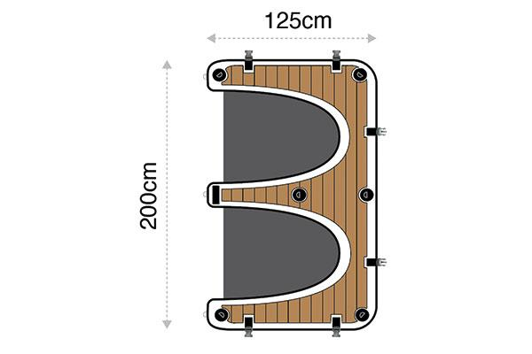 CALLETTI™ YACHTLINE  SeaBob/Surf/SUP Dock L/R