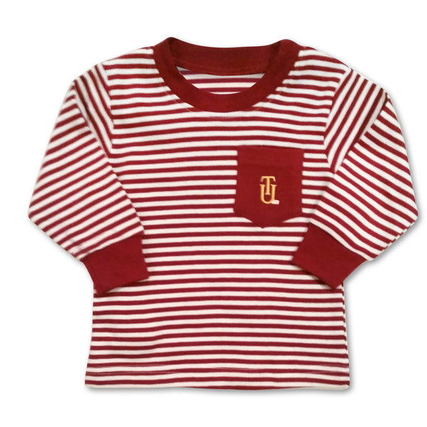 Tuskegee Crimson/White Pocket Long Sleeve Tee - HBCUprideandjoy