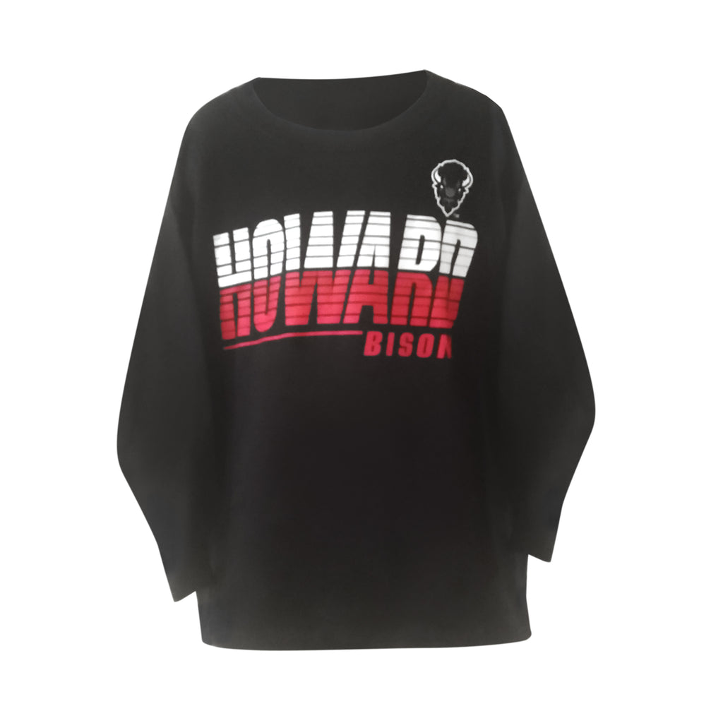 "Howard U ""Streak"" Long Sleeve Youth Tee - HBCUprideandjoy"