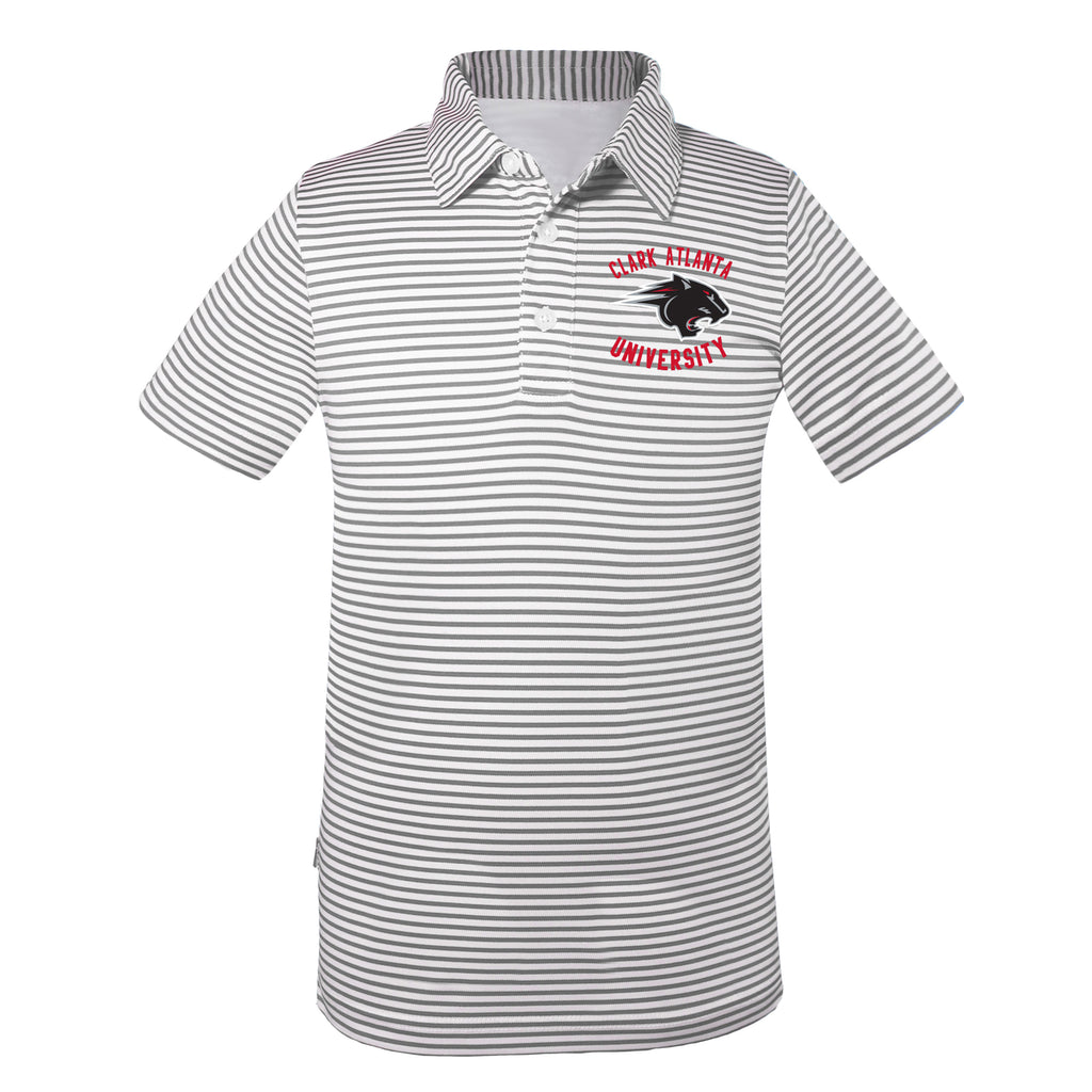 Clark Atlanta Prepster Striped Polo