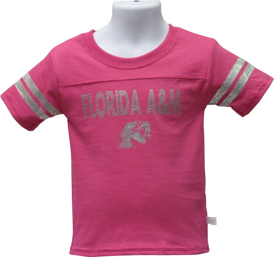 FAMU Blinged Out Little Lady Rattler T-Shirt in Bright Pink - HBCUprideandjoy