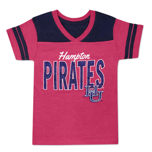 Hampton Diva in Training Glitter Pirate Tee in Pink - HBCUprideandjoy