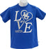 """LOVE"" Hampton University Girls' T-Shirt with Bling - HBCUprideandjoy"