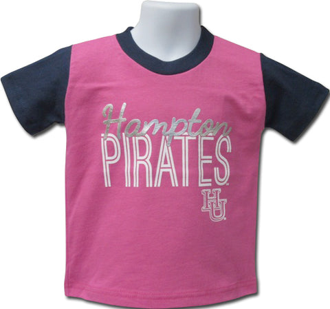 Hampton Bling Girls Tee Pink - HBCUprideandjoy