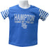 Hampton University Stripe Sleeve Tee - HBCUprideandjoy
