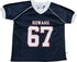 Howard University Junior Football Jersey - HBCUprideandjoy