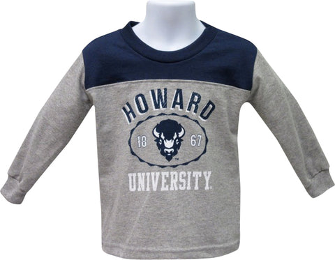 Howard Long-Sleeve Panel Tee - HBCUprideandjoy