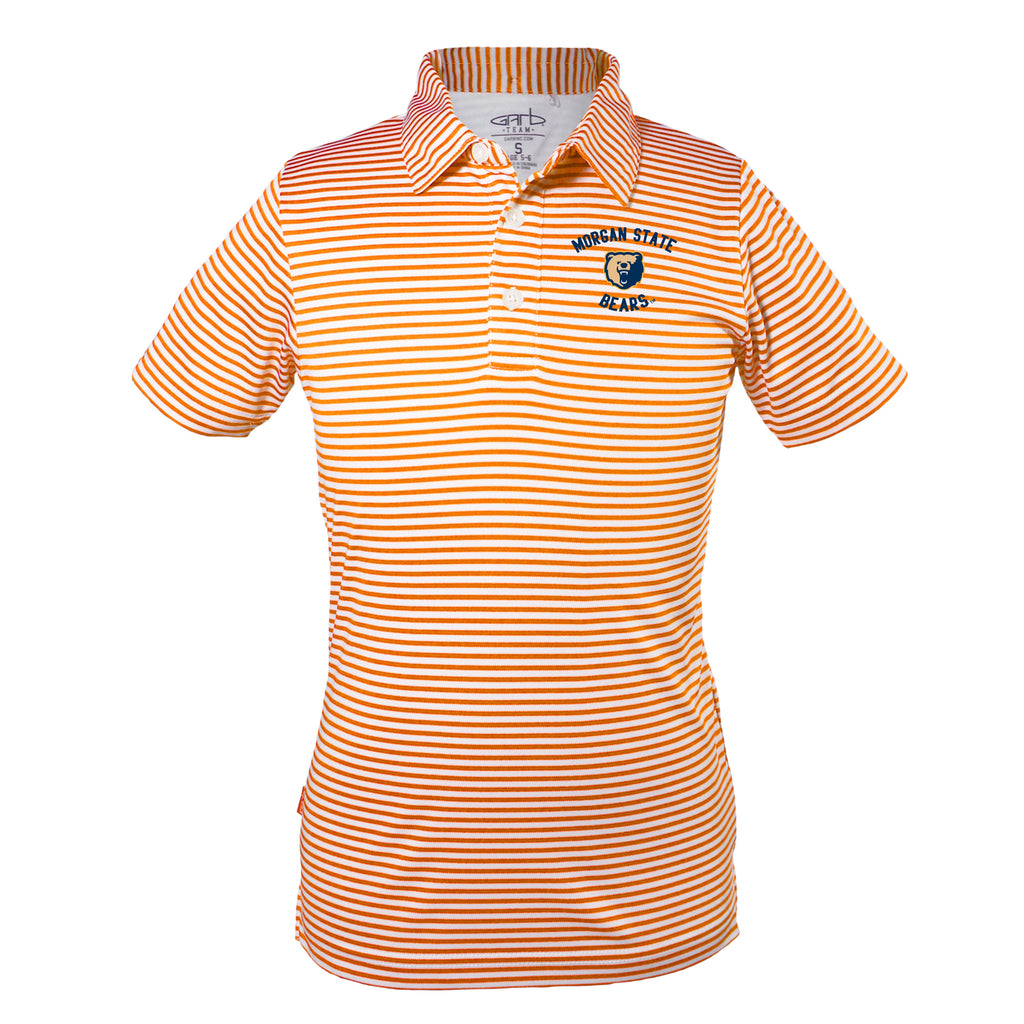 Morgan State Prepster Striped Polo