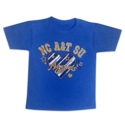 "NC A&T Young Diva  ""Bling Out"" Youth Tee by Next Gen HBCU - HBCUprideandjoy"