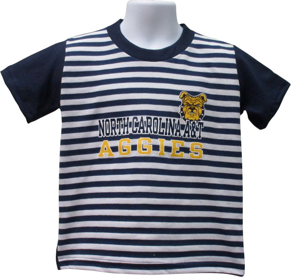 Aggie Stripe Front Tee