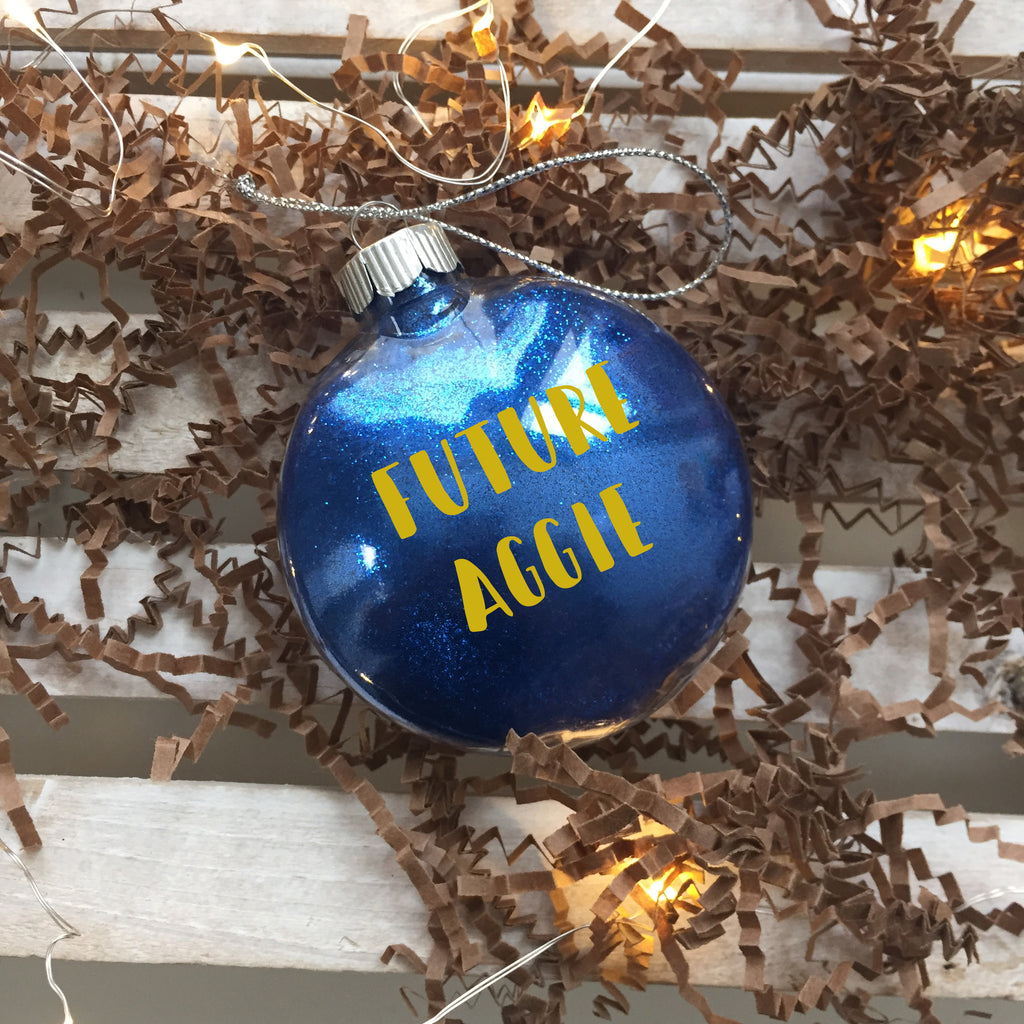 It's A Baby Aggie Holiday Christmas Ornament - HBCUprideandjoy