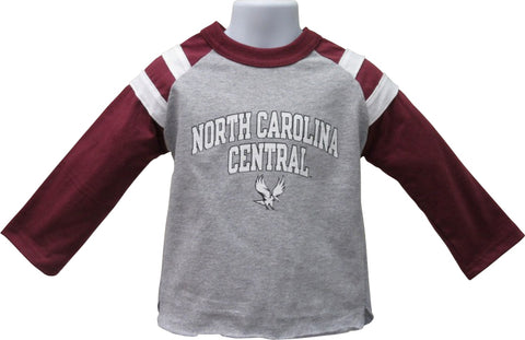 NCCU Rugby Style Long Sleeve Tee - HBCUprideandjoy