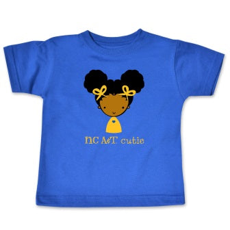 NC A&T Cutie T-Shirt Blue - HBCUprideandjoy